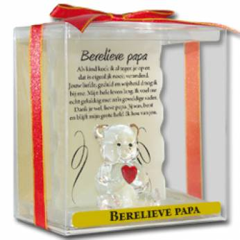Glaswerk engel berelieve papa